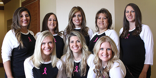 Parkway Vista Dental team fighting breast cancer
