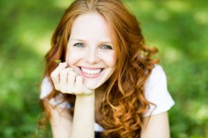 woman with attractive smile from cosmetic dentistry